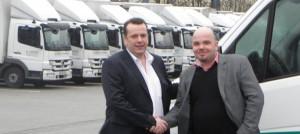 Geschäftsführer Markus Sander (li.) und Stefan Jansen, Bereichsleiter Vertrieb Nfz und Mitglied der Geschäftsleitung Fahrzeug-Werke LUEG AG